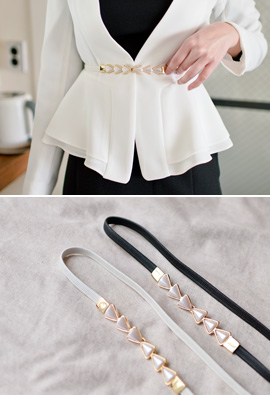 Triangle Pearl Banding Belt <br>