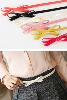 Ribbon Point Enamel Belt <br>