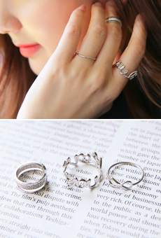 Love it 3set Layered Ring <br>