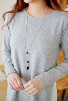 Black Star, surgery 2line Necklace <br>