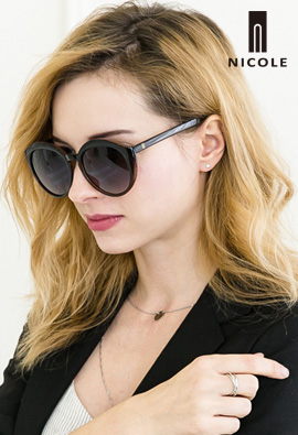 [NICOLE] genuine two-tone Nicole Brown Sunglasses NI2002-