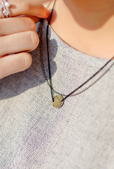 Stylish Coin 2line Necklace <br>