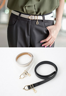 Luxurious Cowhide Gold Buckle Belt <br>