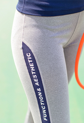 Mesh Side Lettering 9Part Leggings <br>