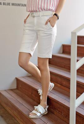 Turn-up Secret banding Basic 5Part If Pants (534) <br>