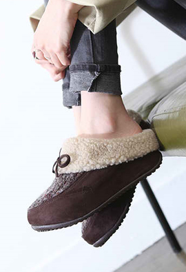 Beumang T2R * * height heel5cm in the winter to keep siriji Knit Slippers 2Color