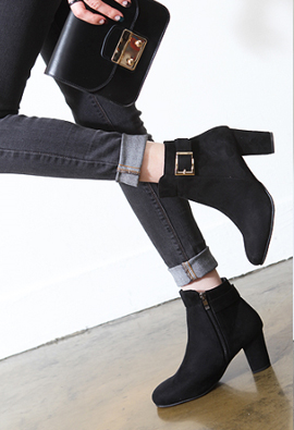 [Of the finest materials, direct production Super Special Sale Limited] T2R * Tommy * height heel7cm personal popularity, FIT saving belt boots 1Color