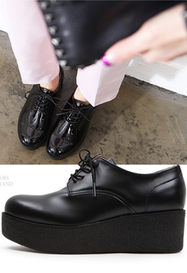 T2R-COL * consumption * Height increase6cm Platform shoes Oxford Tue Classic & Vintage 2Color