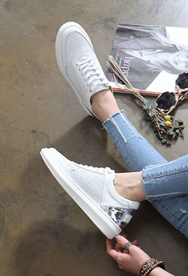 Homteu T2R_COL * * Height increase6.5cm spring wear personal, daily shoes Cowhide Sneakers 3Color