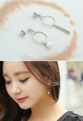 Round Unbalanced Chic earring <br>