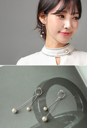 Pearl olive earring (Silver Post) <br>