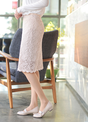 Elasticity Good Lace Banding Skirt <br>