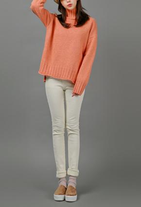 Fresh Fake Pocket Rear Banding Raising Skinny Pants <br> <FONT color=#980000>◆ Remaining Quantity: Light Pink / S 1 piece</font> <br>