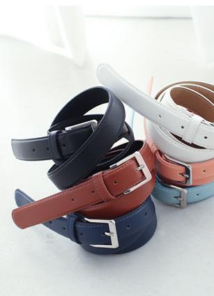 Gay Spring Color Silver Buckle Belt <br>