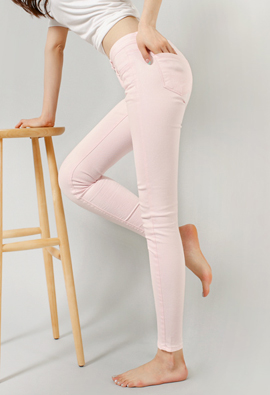 king ~ Span Color Skinny Pants (430) <br> <FONT color=#980000>◆ Remaining Quantity: Light Blue / 25 1 piece</font> <br>