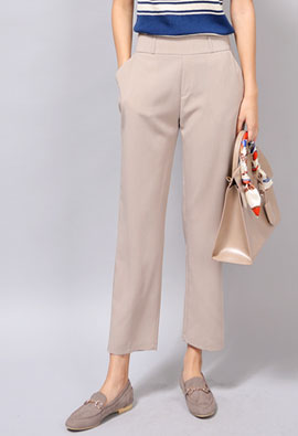 Chic Line Back Bending Pants <br> <FONT color=#980000>◆ 33% off! Wine / L 1 piece</font> <br>