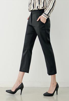 Recognized Pit! Basic Semi-Boot Cut 7Part Pants <br> <FONT color=#980000>◆ 32% off! Left: White / L 1 sheet</font> <br>