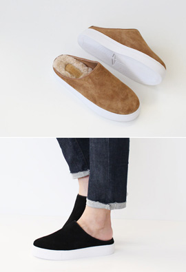 Wool Boston Mule <br> <FONT color=#980000>◆ Remaining Quantity: Tan Brown / 250 1 pair</font> <br>