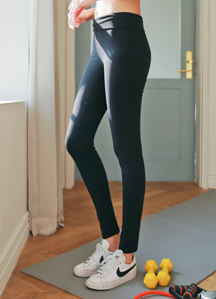 Basic Line Mild Raising high waist Leggings <br>