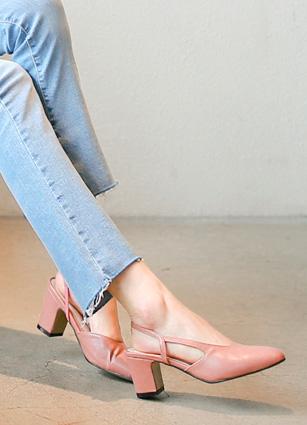 Banding Sling backs Middle heel <br>