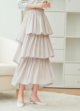 Unbalanced Banding Skirt <br>