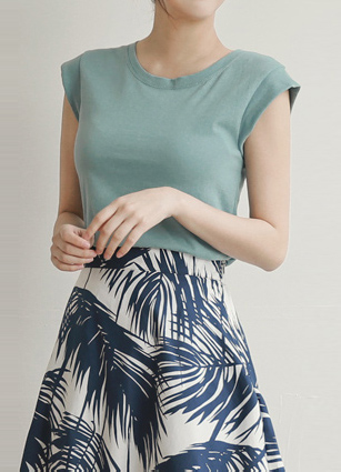 Basic Cap sleeves Sleeveless <br>