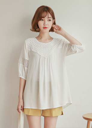 Race Appearance Feminine ALine Long Blouse <br>