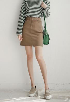 Simple Pit! Basic Cotton Skirt <br> <FONT color=#980000>◆ Quantity left: Dark Purple / S 1 sheet</font> <br>