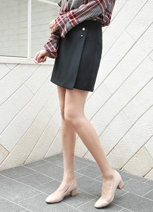 Simple Pearl Wrap Style Pants (Broach Set) <B>(S, M, L)</b>
