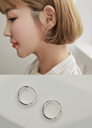 Silver 92.5 Simple ring earring <br>
