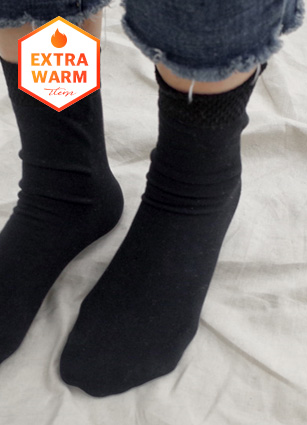 Ankle Slim Brushed lining Stocking Socks <br>