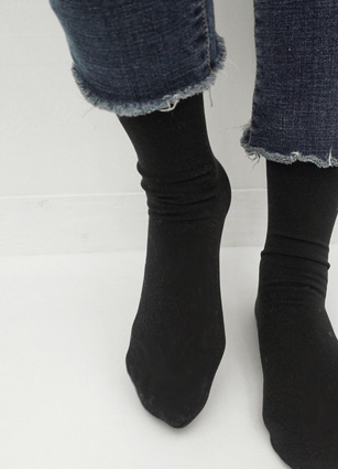 Brushed lining stocking socks <br>