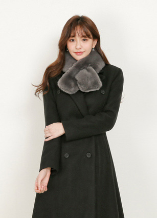 Soft touch Cross fake mink muffler <br>
