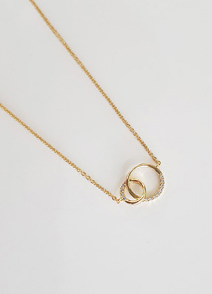 Turing Cubic Mix Slim Necklace <br>