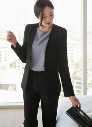 Mono Nokara One Button Jacket <B>(S, M, L)</b> <BR> <FONT color=#980000>◆ Remaining Quantity: Black / L 1 sheet</font> <br>
