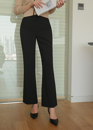 Mono Chic Semi-Boot Cut Slacks <br> <B>(S ~ L)</b>