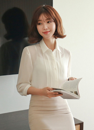 Morphin pinch line Chiffon blouse <br> <b>Broadcast Sponsorship product</b> <br>