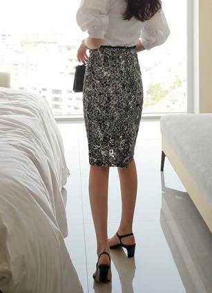Blending Punching Lace Skirt <br> <B>(S ~ M) / broadcast sponsorship product</b> <br> <FONT color=#980000>◆ Remaining Quantity: Black / M 1 sheet</font> <br>