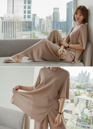 New Bell Lounge Wear Knit Set (2Speciesset) <br> (Same day shipping)
