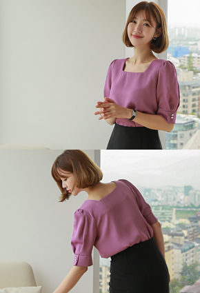 Rev Square Neck Puff Blouse <br> <b>(Broadcast sponsorship)</b> <br>