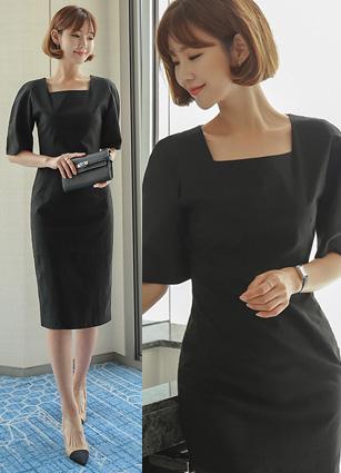 <b><FONT color=#980000>◆ Declaration of lowest price</font></b> <br> Square Neck Puff Linen One-piece dress <br> <b>(Broadcast sponsorship)</b> <br>