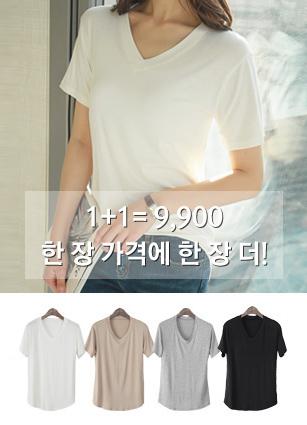 <b>Today only! <FONT color=bf3100>◆ 1 + 1 = 9,900 won</font></b> <br> Default Collection! Basic VNeck T-shirt <br>