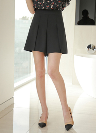 Scarlett Pinteok ALine 3Part Pants (S, M) <br> <FONT color=#980000>◆ Remaining Quantity: 1 Black / S</font> <br>