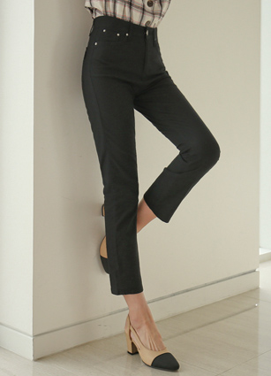 Live Slim Date Linen Black Pants (280) <br> <B>(S to XL)</b>