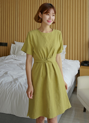 <b><FONT color=#980000>Just, 5,000 won a day discount</font></b> <br> Dewey Linen100 Belted One-piece dress <br> (Broadcast sponsorship) <br>