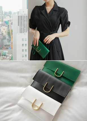 Muse gold buckle Clutch & Cross Bag <br>