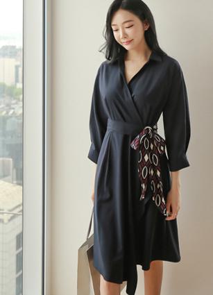 Loen Shirt Lap Style One-piece dress (Beltset) <br> <b>(Broadcast sponsorship)</b> <br>