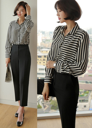 Close Mix Stripe Shirt <br>
