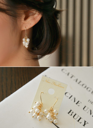 Pearl earrings earrings <br>