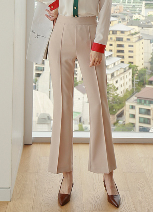 Prom Pinteok Slim Boot Cut Slacks <br> <B>(S ~ M)</b>